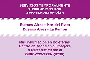 Servicios suspendidos temporalmente
