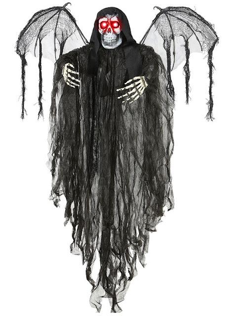 Halloweenpynt døden med vinger