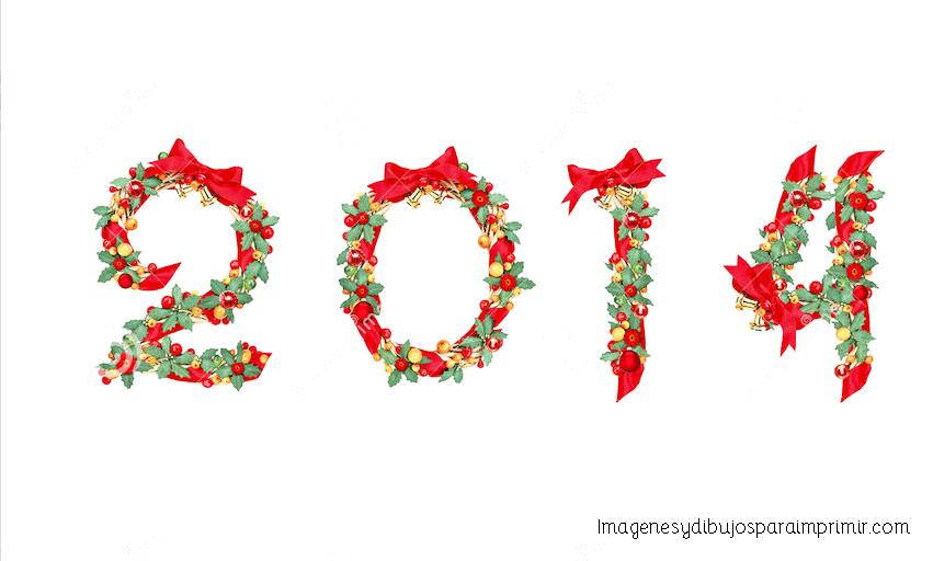 2014 en numeros de navidad para imprimir