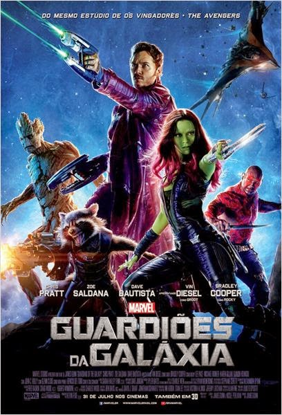 "Poster do filme ""Guardiões da Galáxia"""