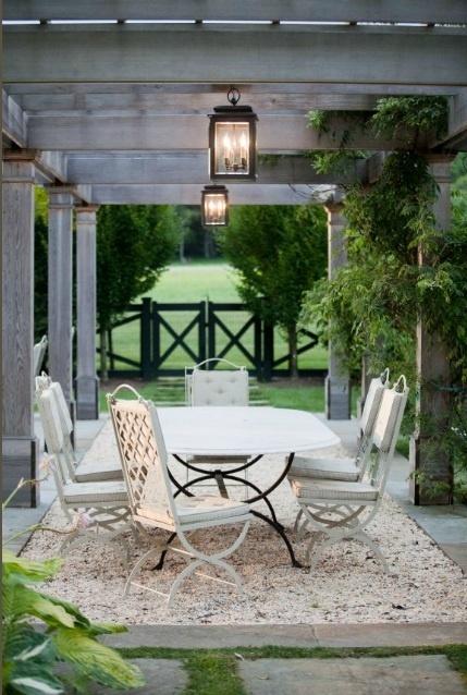 DIY+Gravel+Patio pea gravel is so charming & seems so easy to achieve