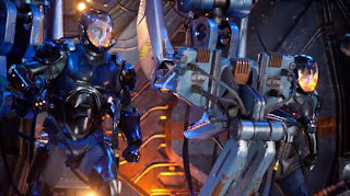 Still of charlie hunnam and Rinko Kikuchi in Pacific Rim, a movie review