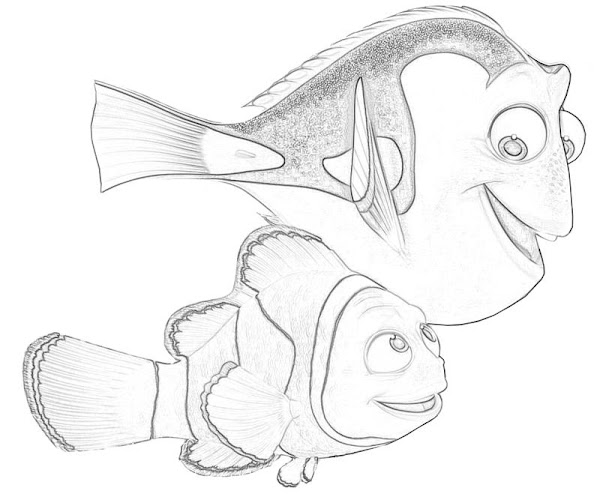 Printable Finding Nemo Nemo Cartoon Coloring Pages