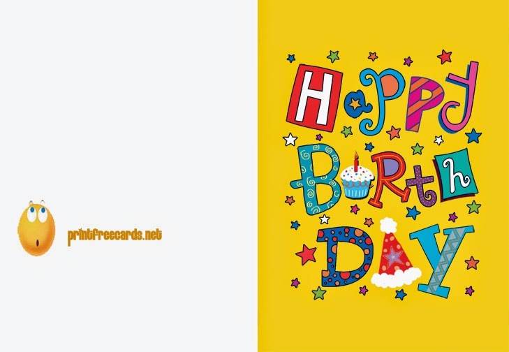 Happy Birthday Printable Cards Slim Image – Birthday Cards Print out