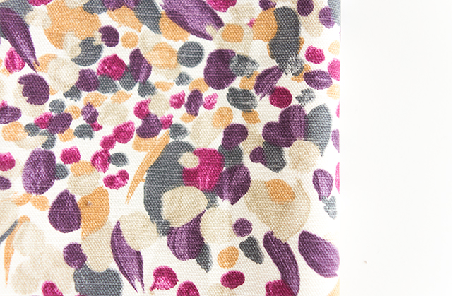 close up of abstract floral fabric