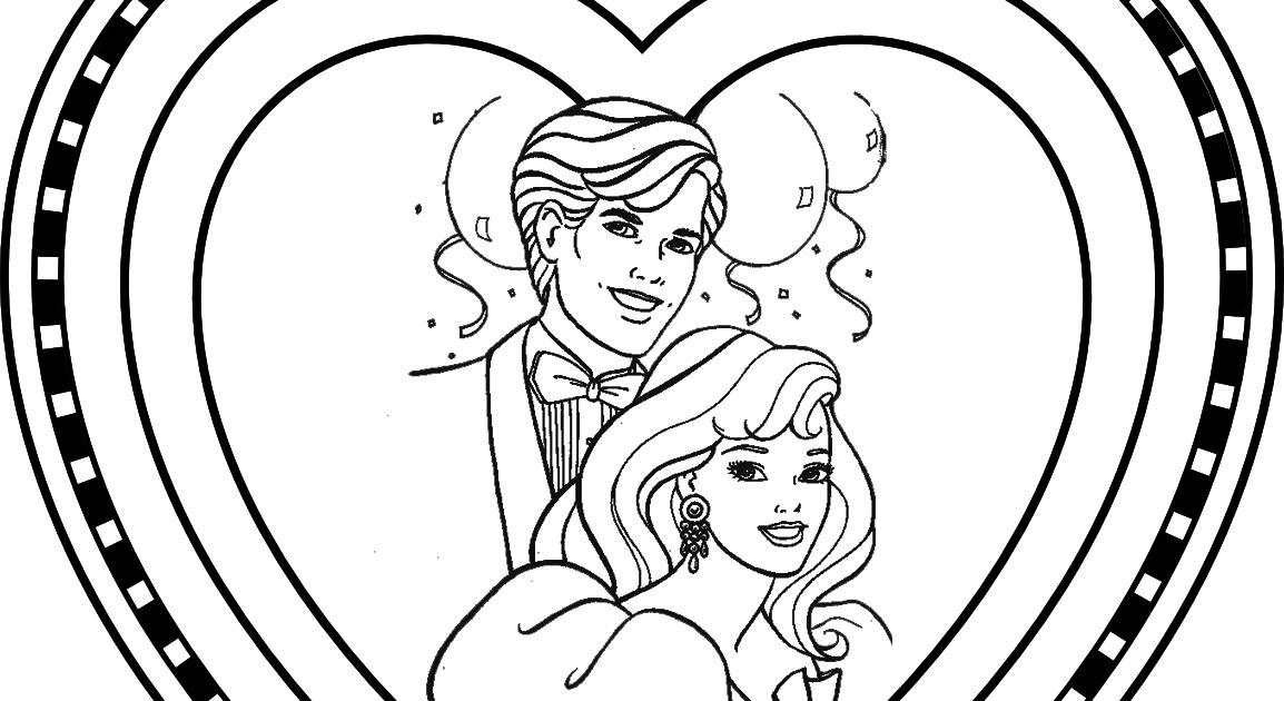 barbie valentine coloring pages - barbie coloring pages barbie and ken valentine 39 s day