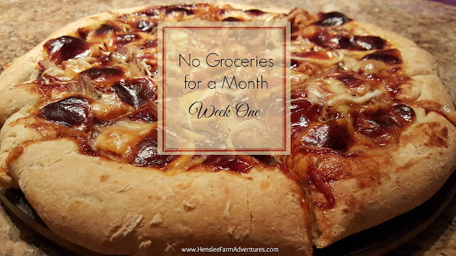 No Groceries for a Month Week One