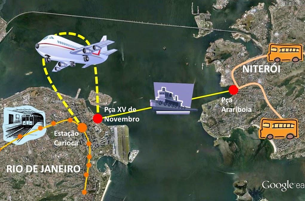 Ajude um niteroiense a chegar ao metrô da Carioca