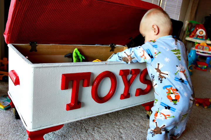 I Knew That Once His Fire Truck Room Came To An End We Would Have To Move  This Toy Box Out Of The Living Room And Into His Room.