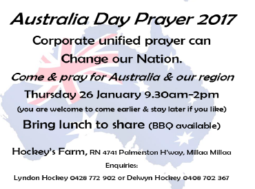 Invitation to Pray on Australia Day