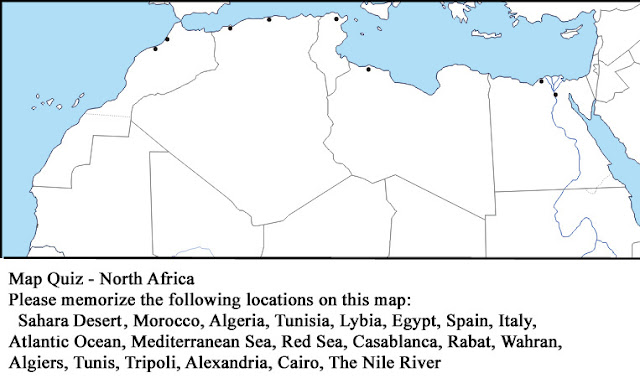 geography at calvert map quiz north africa tuesday march 27 2012. Black Bedroom Furniture Sets. Home Design Ideas