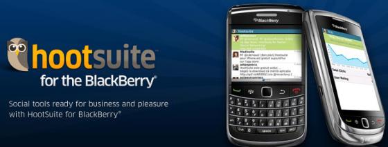 Hootsuite for blackberry phones