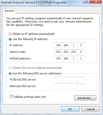 Obtain an IP address automatically