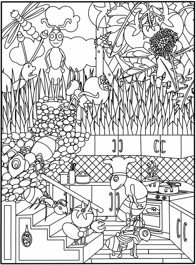 Waco Mom Gardening Coloring Pages