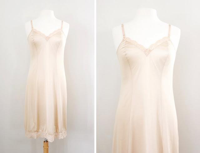 vintage under dress slip