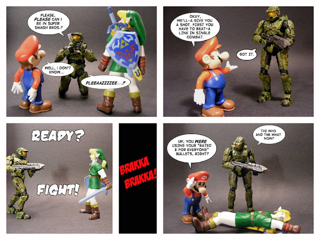 Master Chief in Brawl funny pic