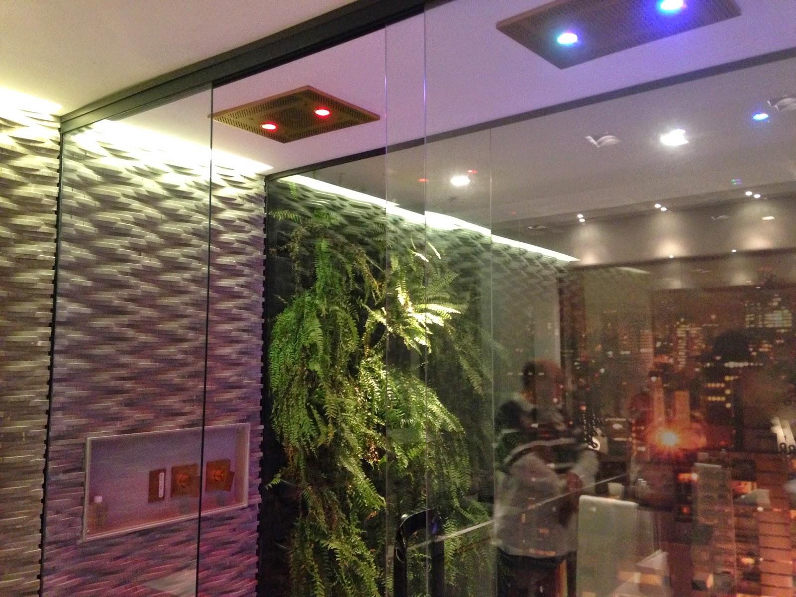 banheiro com jardim de inverno dividido por parede de vidro #908B3B 1600 1200