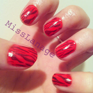 tiger stripe nail art