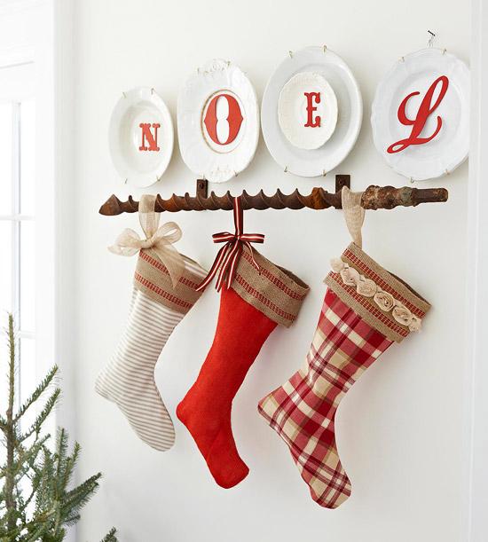 Hora de arrumar meias de natal Bhg s