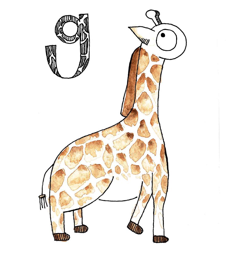 Nom nom nom g is for giraffe spiritdancerdesigns Gallery