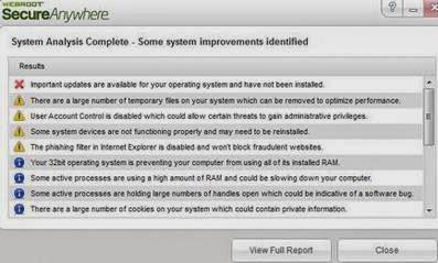 Software Webroot System Analyzer
