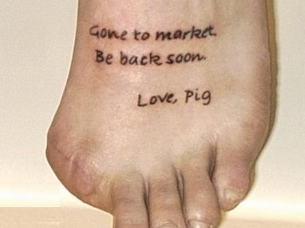 tattoo on foot. Foot Tattoos
