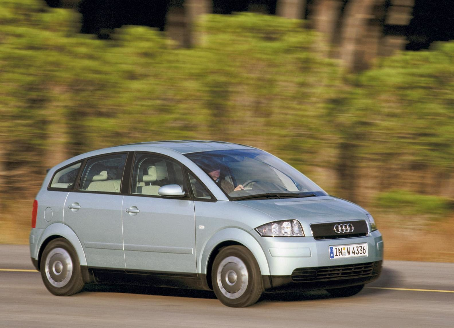 Audi A2 2001 Fullscreen Wallpaper