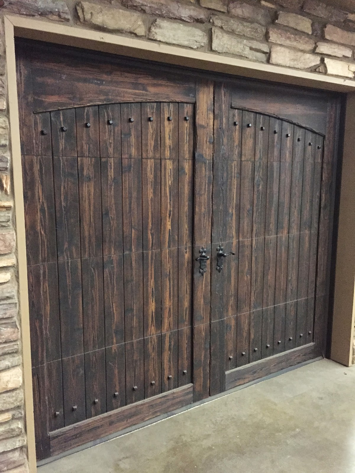 Cedar Garage Door Antiqued