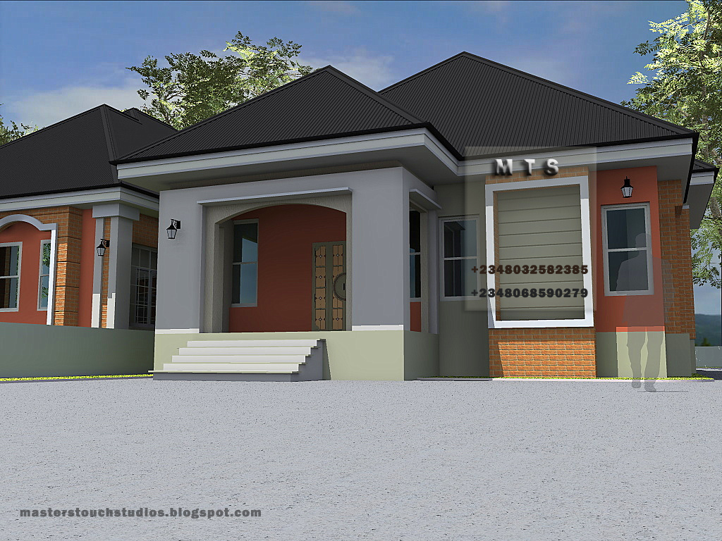 3 bedroom twin bungalow modern and contemporary nigerian for 3 bedroom bungalow plans