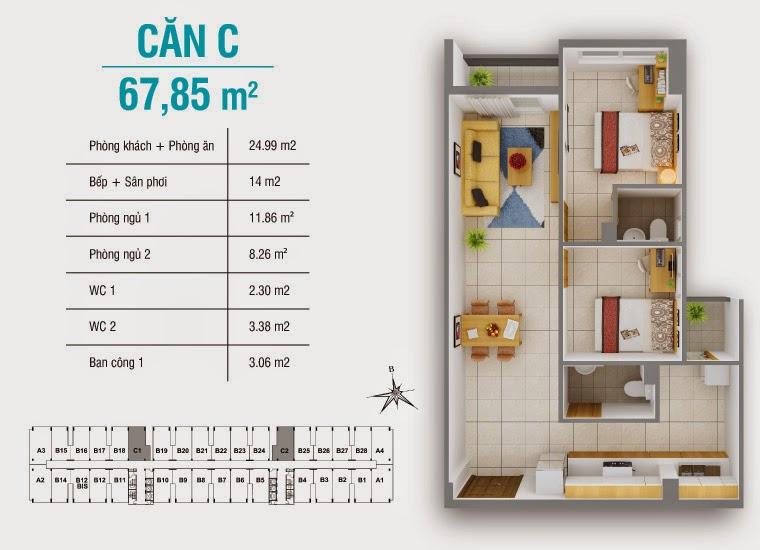 Bán căn hộ 8X Plus mặt đường Trường Trinh giá chỉ từ 12,3 triệu / m2 17