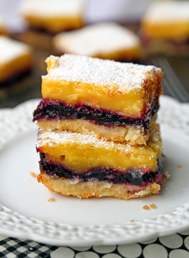... lemon bars are amazing lemon and blueberry goes together so well plain
