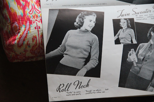 1940 turtleneck pullover sweater