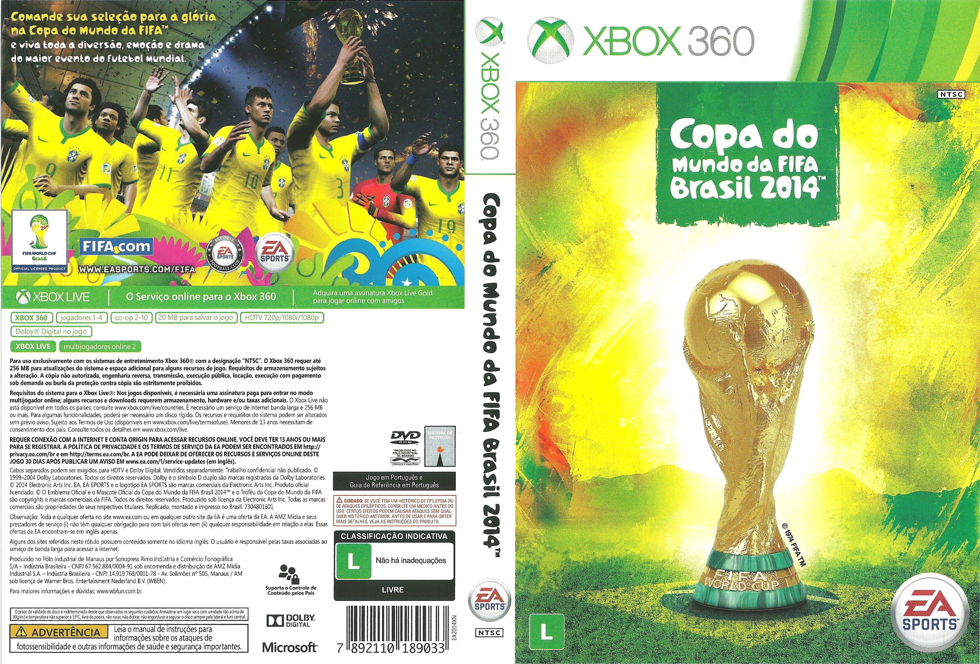Capa Copa Do Mundo Da Fifa Brasil 2014 Xbox 360