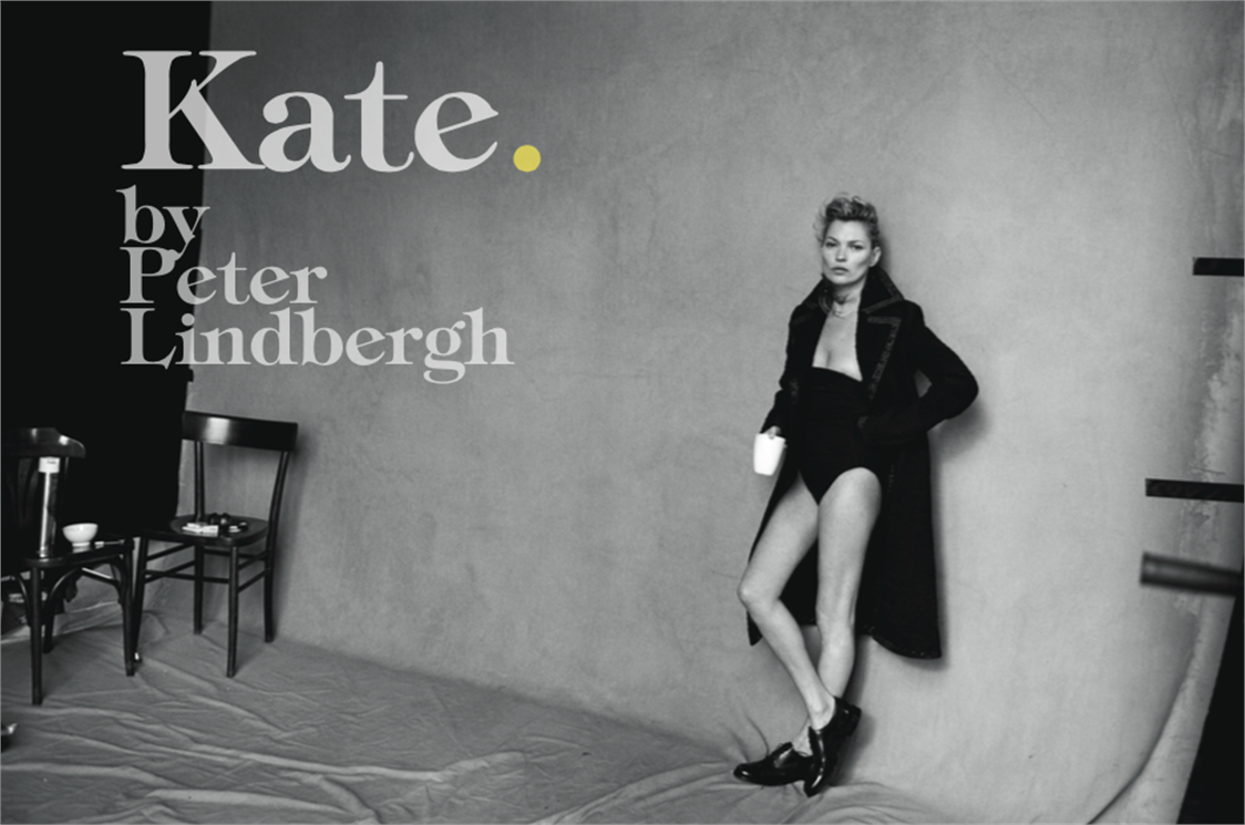 Kate Moss unretouched photos by Peter Lindbergh for Vogue Italia