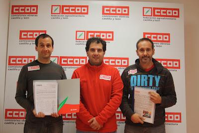 Representantes del sector cárnico de CCOO