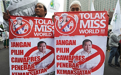 Indonesia Miss World 2013 protests