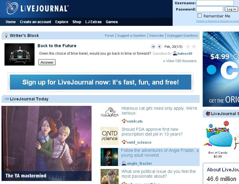 LiveJournal Snapshot