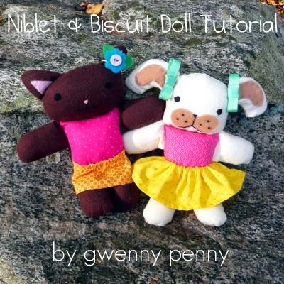 Ursinhos infantis de feltro e tecido