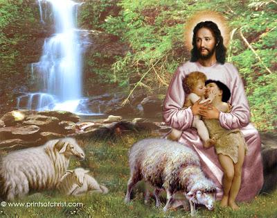 Jesus Caring Painting