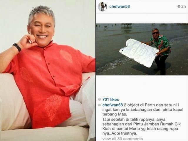 Chef Wan Dikecam Kerana Persenda Isu #MH370