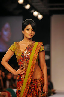 Actress Shriya Saran On The Ramp in a Saree at Lakme Fashion Week Winter Festive 2014  39