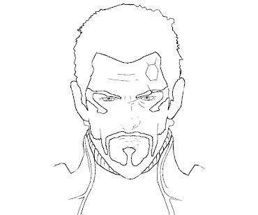 #6 Deus Ex Coloring Page