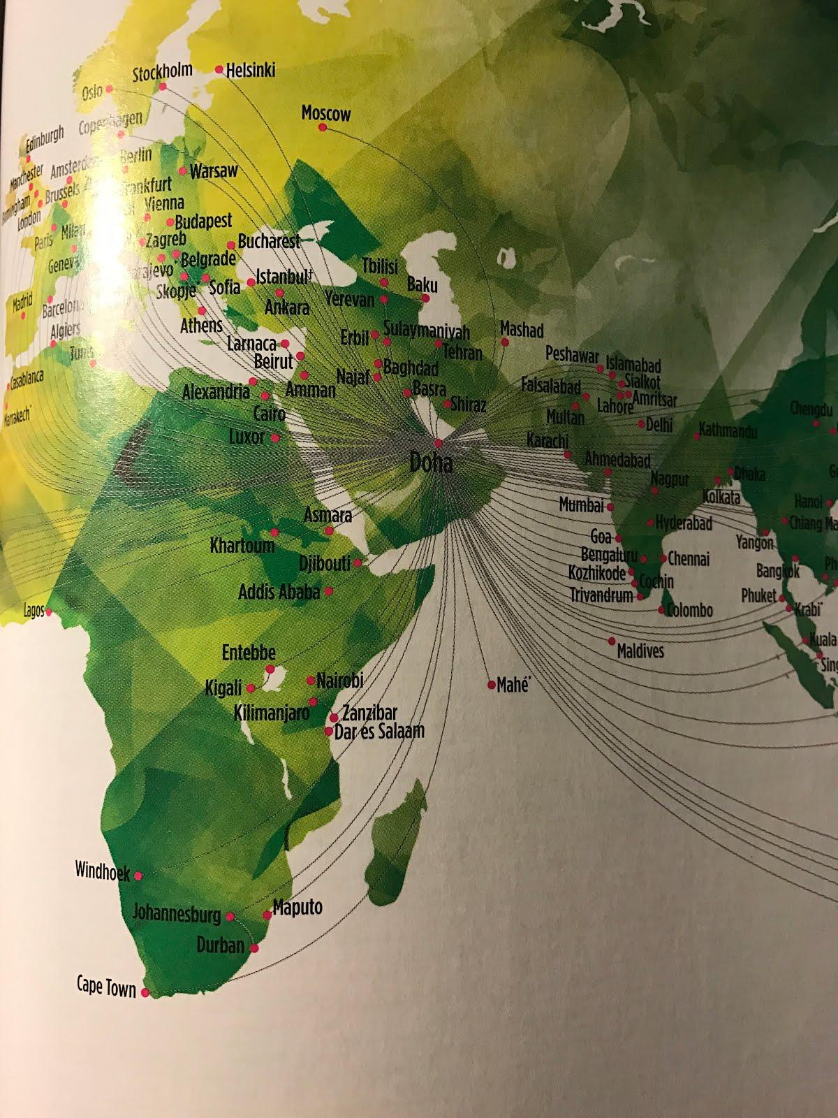 The Timetablist: Qatar Airways Route Network, November 2016: The ...
