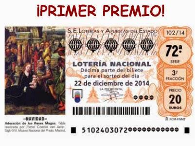 """Primer premio o """"El Gordo"""" de la lotería de Navidad"""