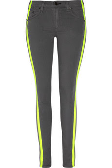 neon stripe jeans