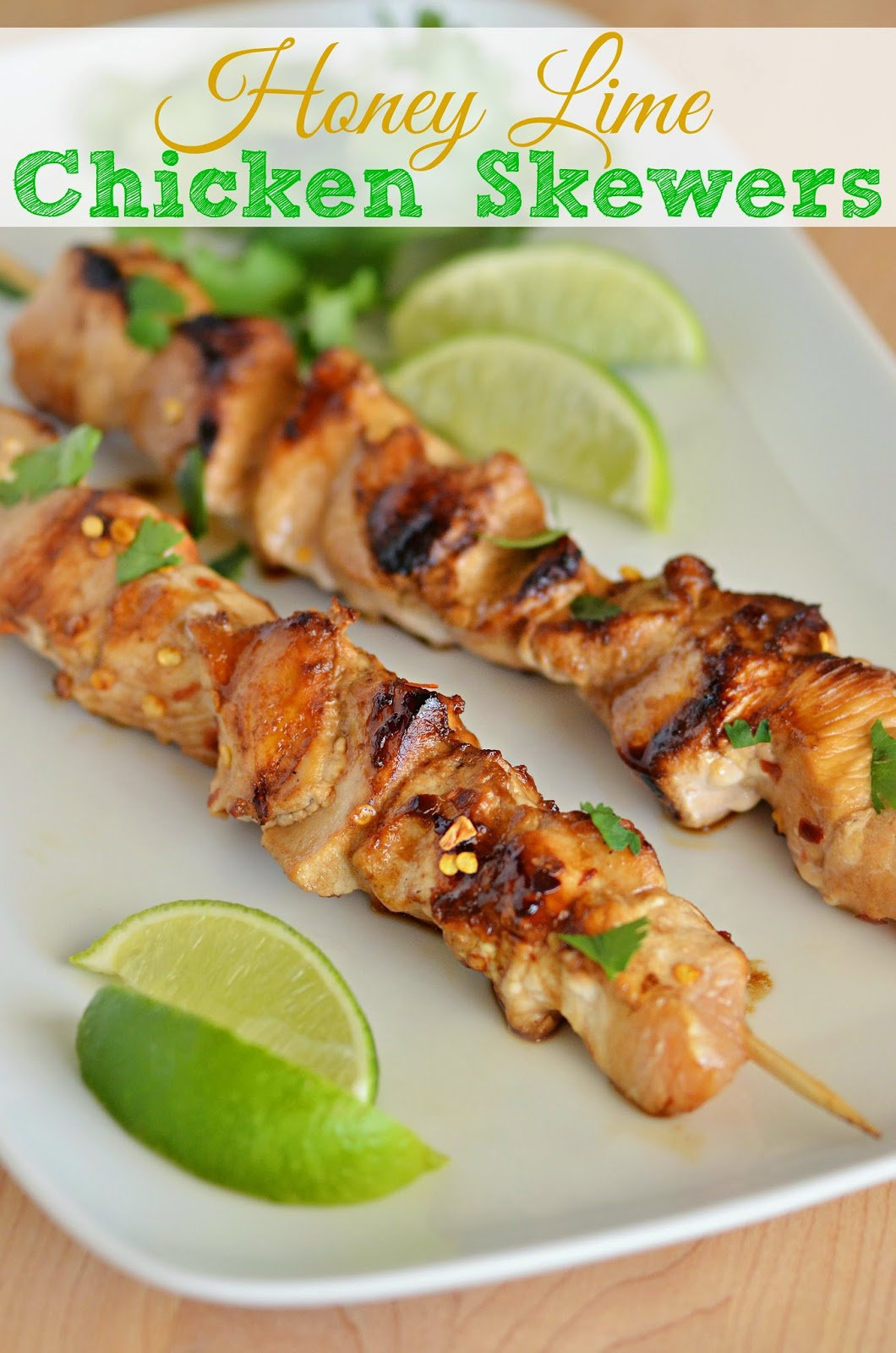 The Country Cook: Honey Lime Chicken Skewers