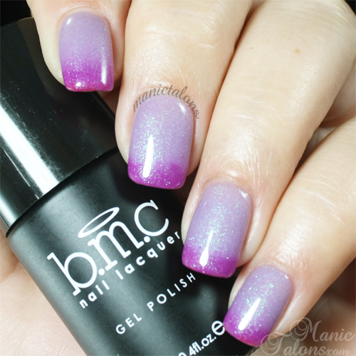 BMC Gel Polish Purple Rain Swatch