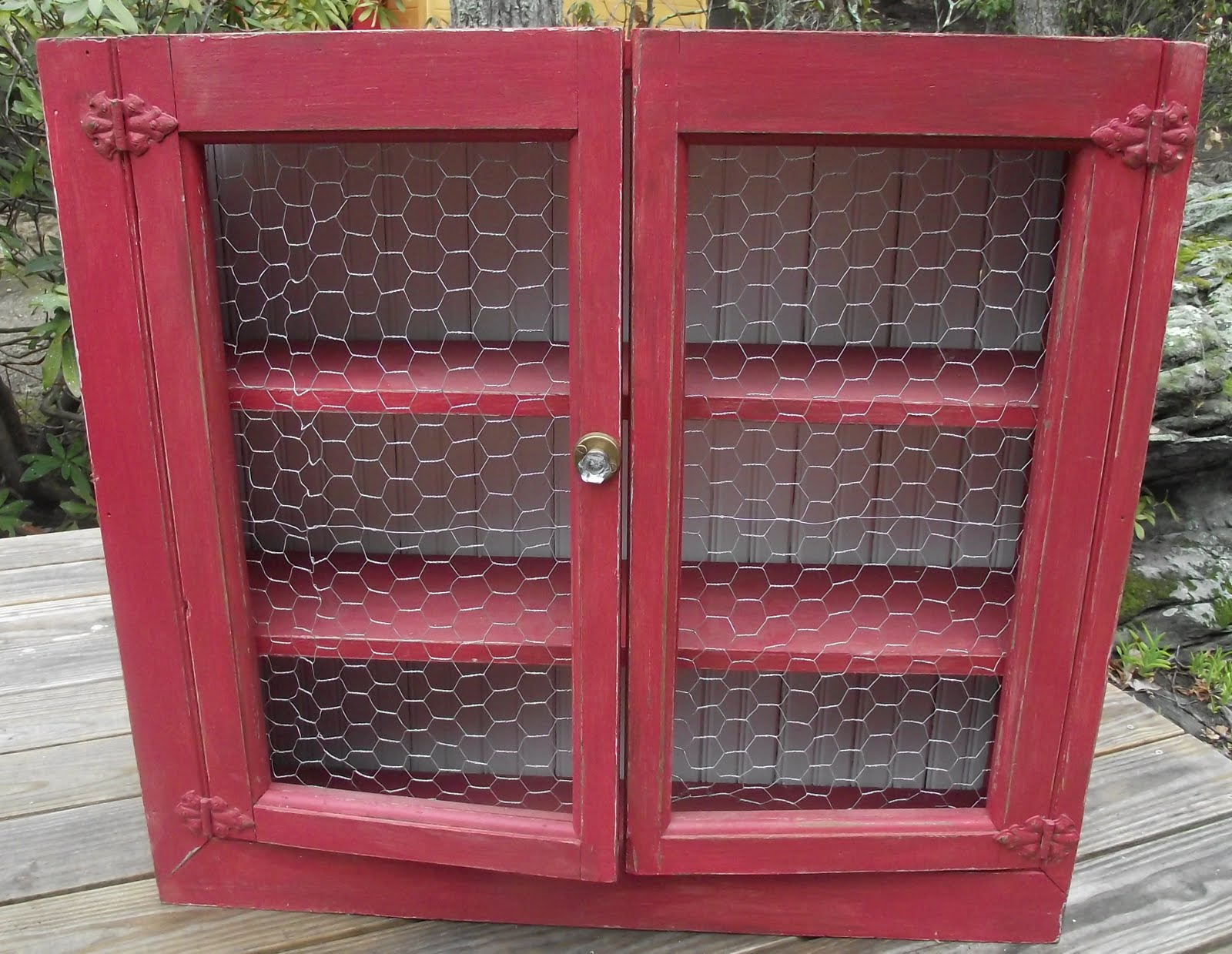 Chicken Wire Cabiwith Doors