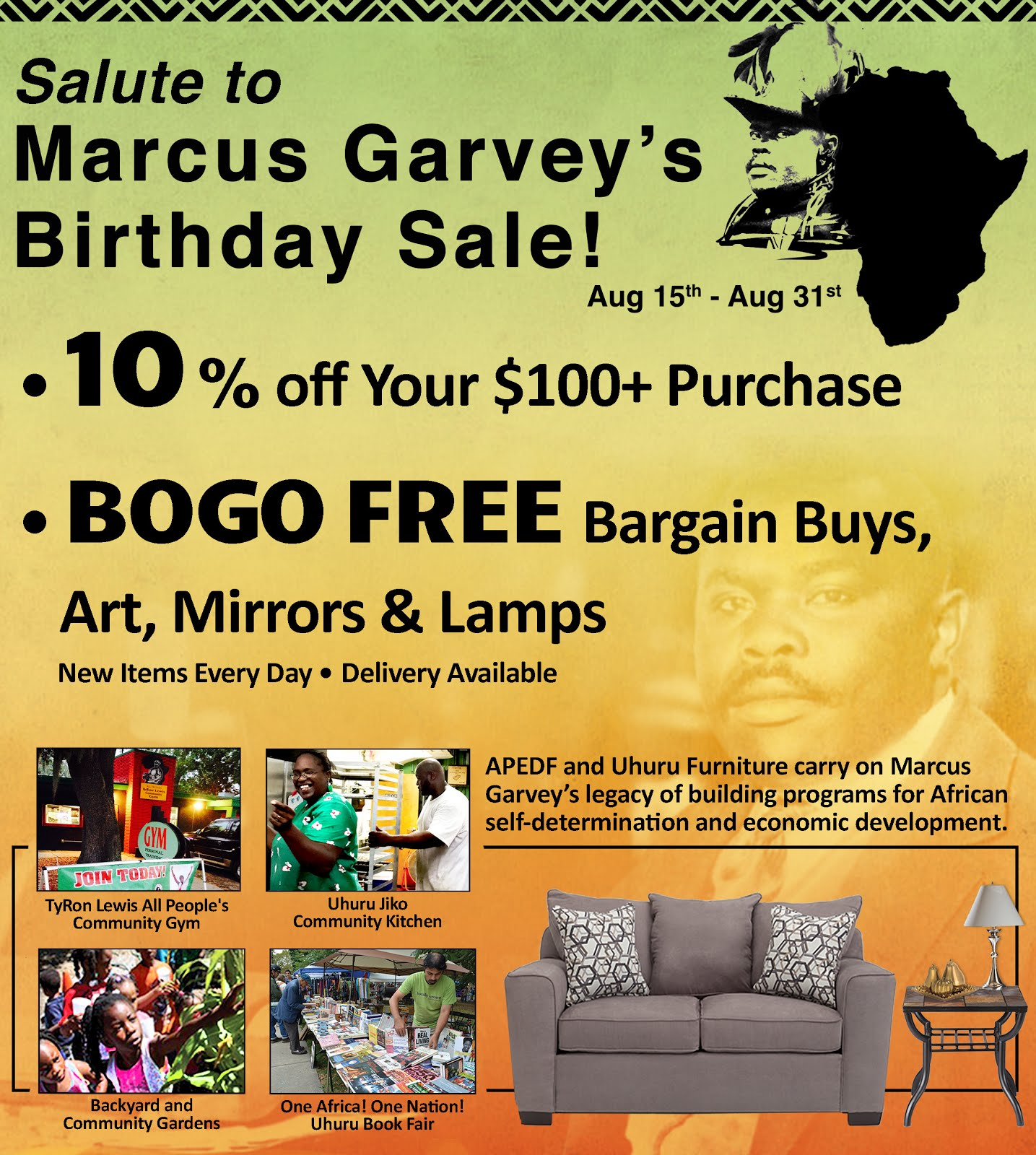 Salute to Marcus Garvey's Birthday Sale!