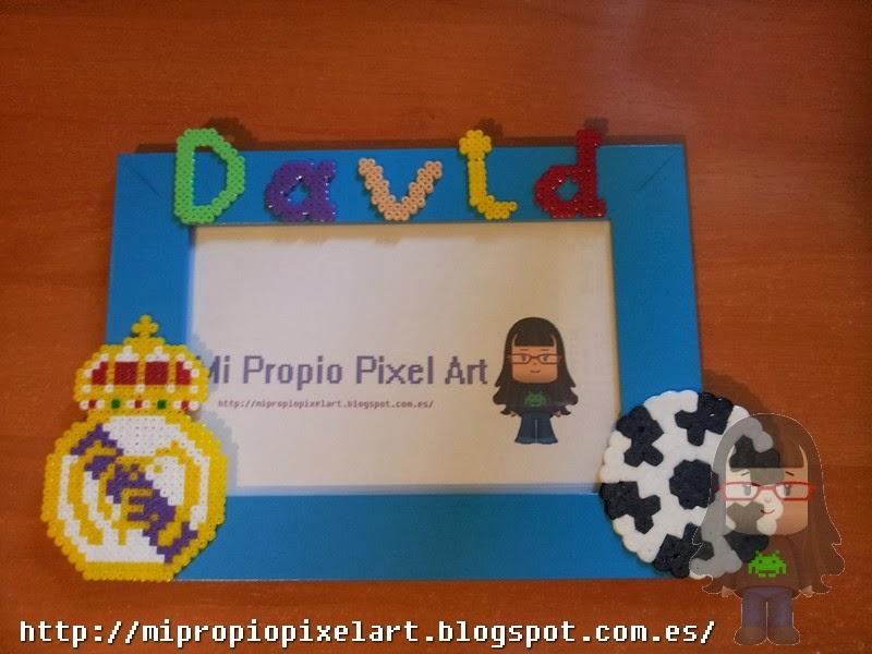Mi Propio Pixel Art con Hama Beads: Marco de fotos del R.Madrid